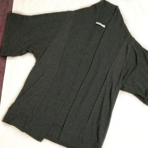 Comfy Gray Knit Cardigan One Size